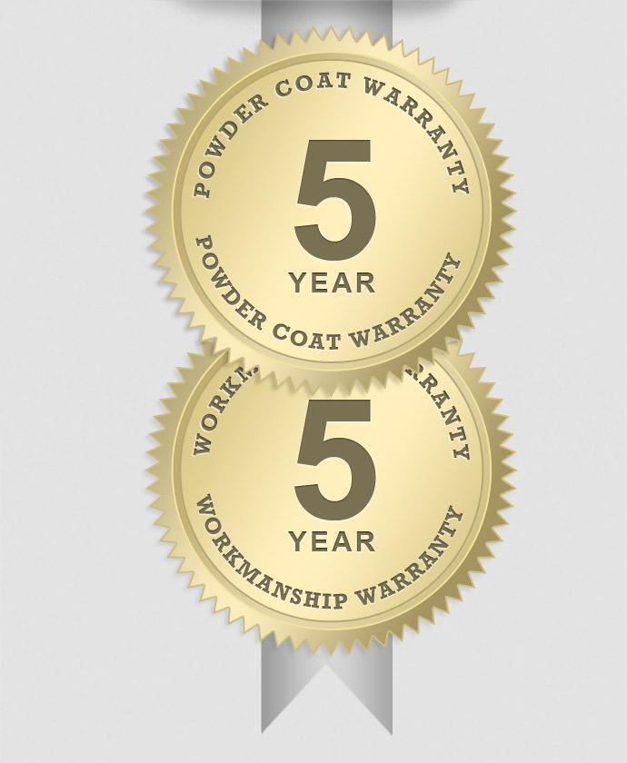 5 Year Powder Coating Warranty