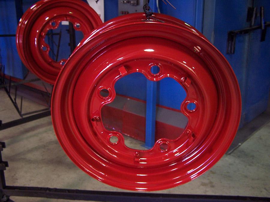 Mile High Powder Coating Inc Red Powder Coated Rims